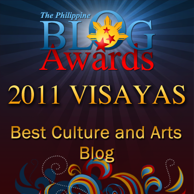 Tumandok as Best Culture and Arts Blog in Visayas 2011 Philippine Blog Awards
