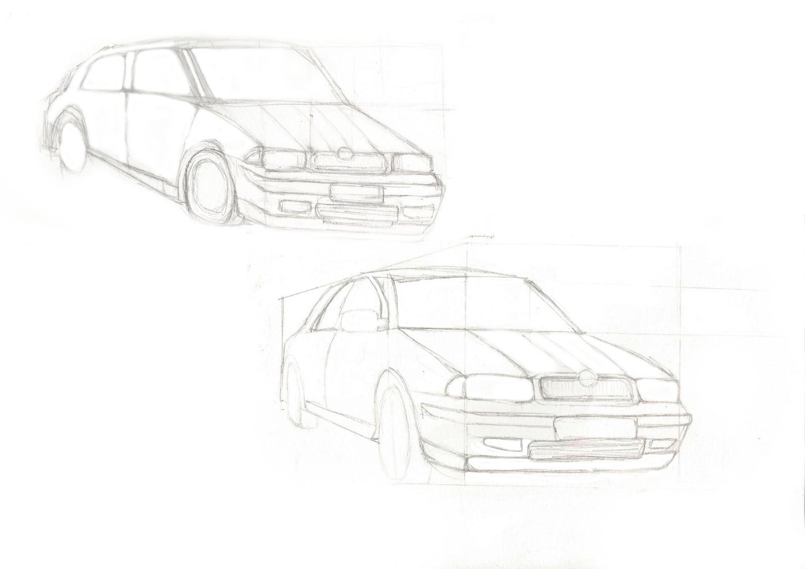 Henri\'s Game Art Blog: My Progress of Drawing Cars!