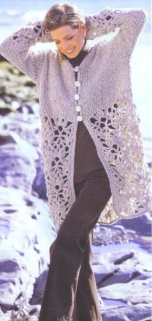 Casaco de crochê e tricô - Gráfico