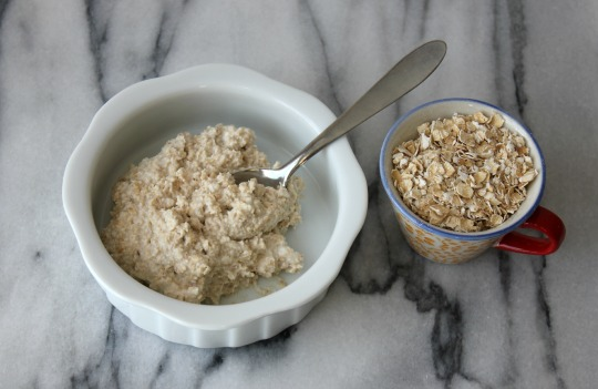 Yogart and oatmeal facial