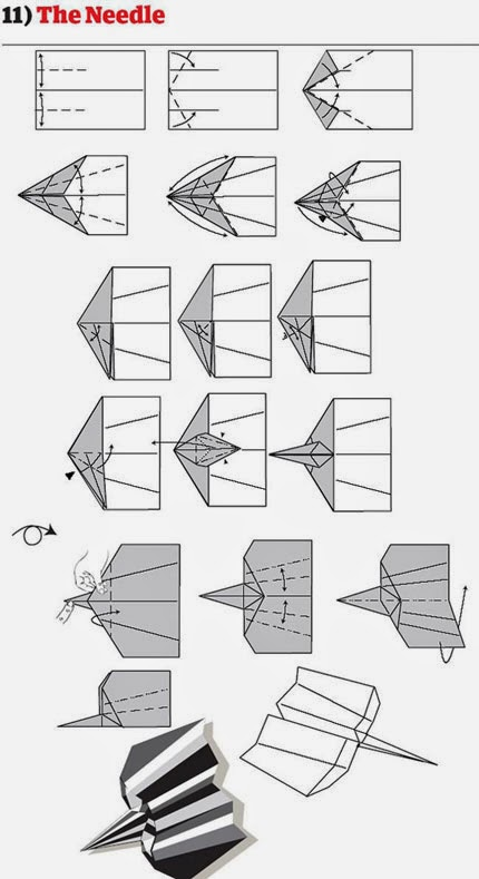 How to fold the Neddle Paper Plane