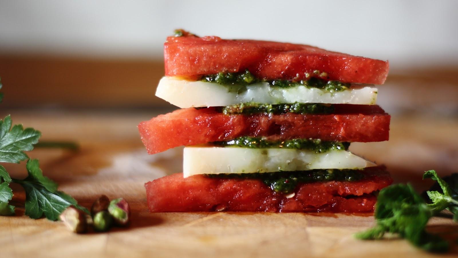 danielas gedanken: Watermelon Manchego Stack with ...