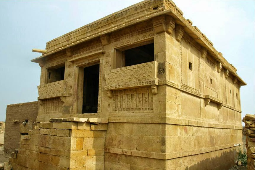 Structures reflecting architectural marvel in Kuldhara