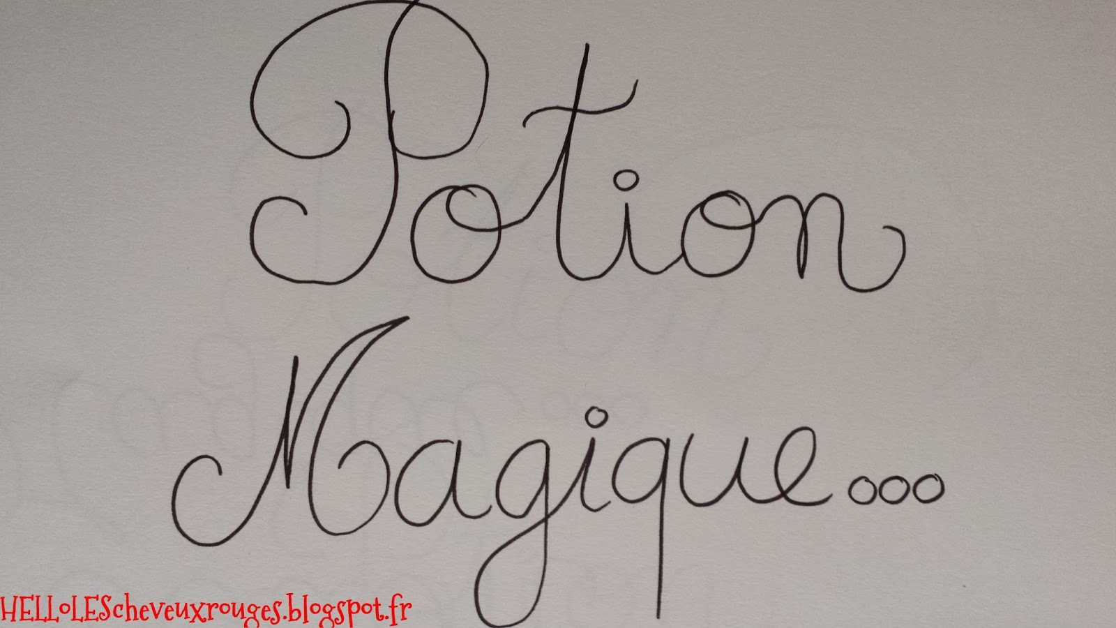 présentation dessin avec le titre potion magique