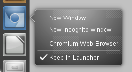 Chromium Browser Quicklist Ubuntu 11.04