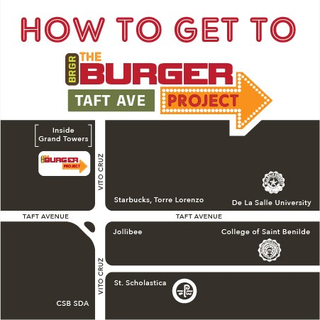 Map to The Burger Project in Taft