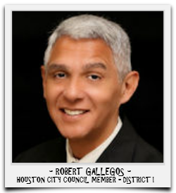 ROBERT GALLEGOS IS CURRENTLY SERVING HIS FIRST TERM