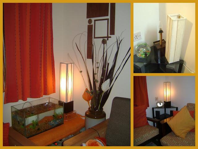 Table lamp or bedside lamp using jute