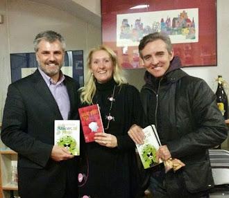 ...Y también presentó mi 3ra. novela en Madrid.