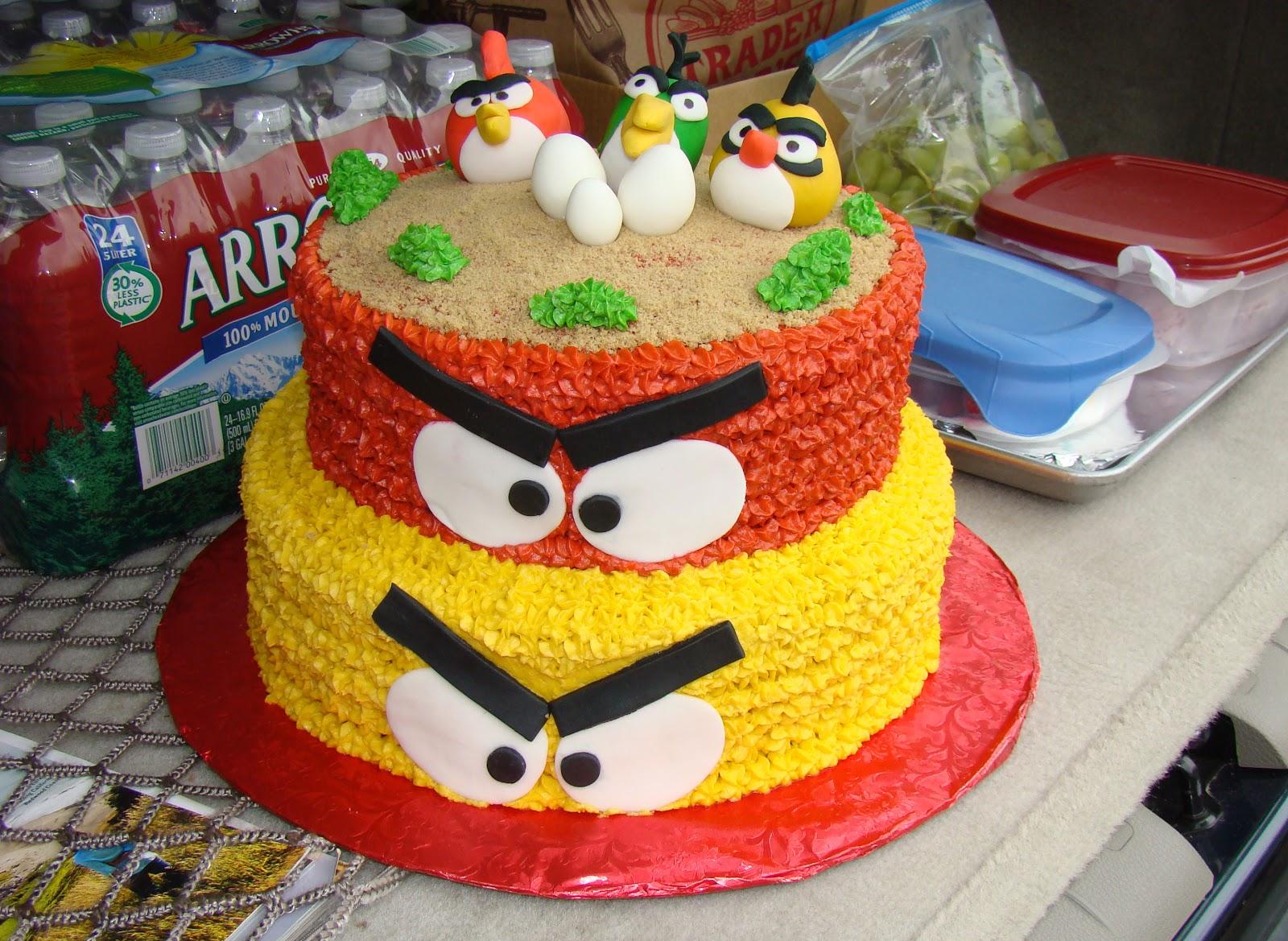Pictures Of Angry Birds Birthday Cakes : Organizar una Fiesta Tematica de Angry Birds Arcos con ...