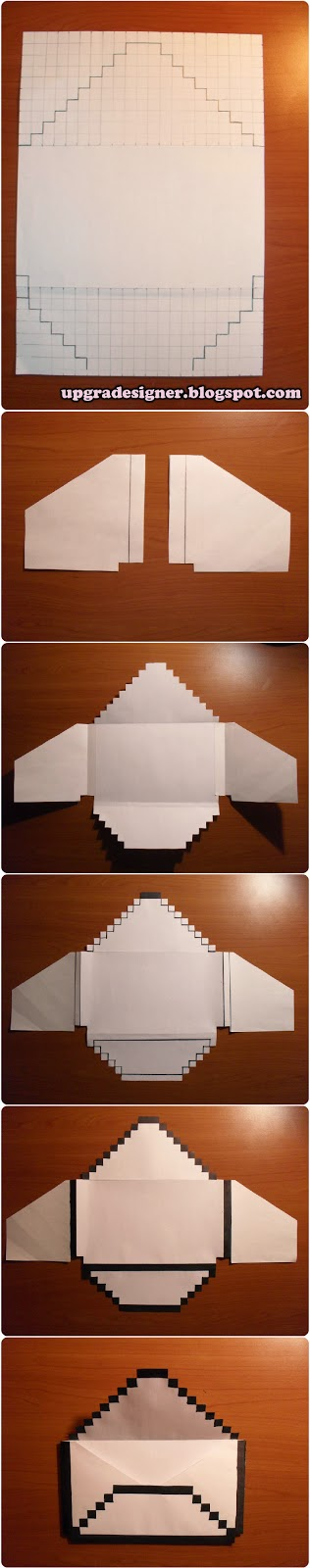 pixel envelope design diy
