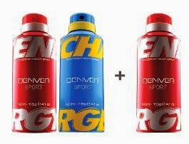 Denver Sport Energy & Charge Deodorant Pack of 3 (115 Gr each) worth Rs.510 for Rs.259 Only @ HomeShop18  (Valid till 1st Aug'14)
