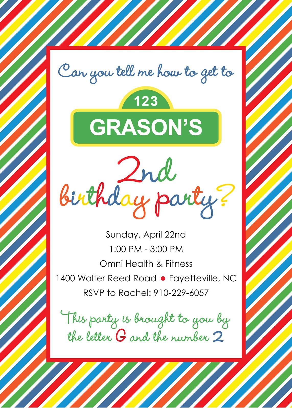 Project Rehab: Grason\'s 2nd Birthday Invitations