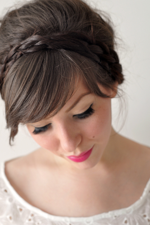 Voluminous Braided Up-do Hairstyle