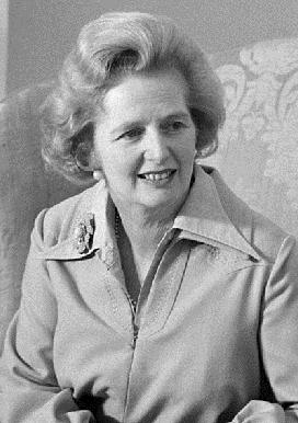Primer Ministro británica MARGARET THATCHER (13/10/1925 - 08/04/2013)