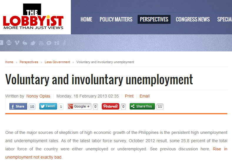 Thesis on unemployment in the philippines