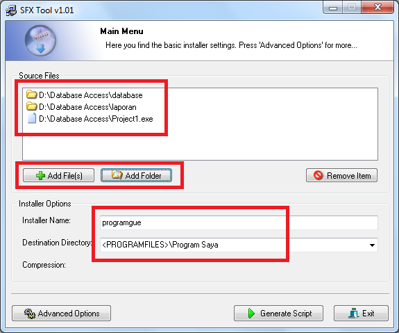 Membuat File Instalasi Delphi dan Database Access