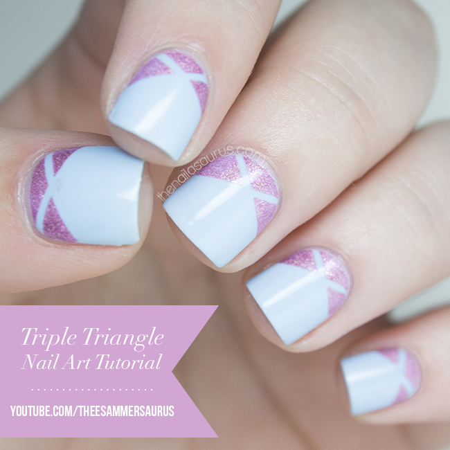 Uk Nail Art Blog Nail Art With Bite: Triple Triangle Nail Art Tutorial Video