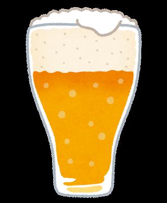 グラスに入ったビールのイラスト