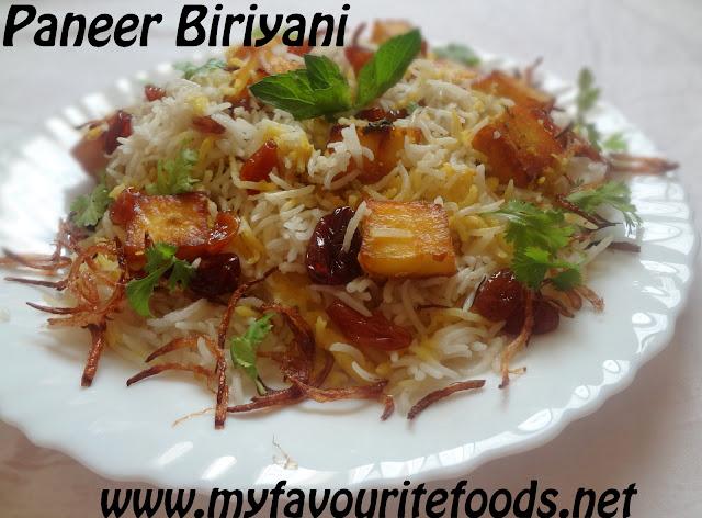 Paneer Biriyani