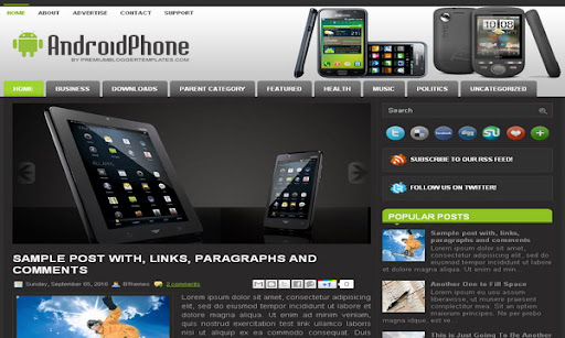 AndroidPhone Blogger Template