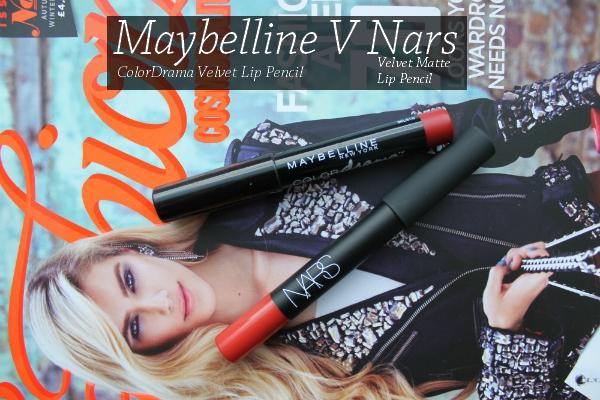 Maybelline ColorDrama Velvet Lip Pencil & Nars Velvet Matte Lip Pencil