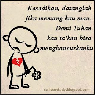 DP BBM sedih putus cinta