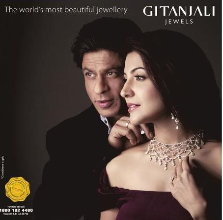 Anushka Sharma Gitanjali Jewellery Poster1 - SRK and Anushka Sharma Photoshoot for Gitanjali Advertisement