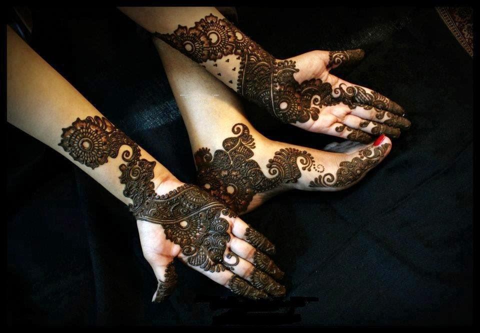 Mehndi For Baby : Beautiful latest simple arabic pakistani indian bridal girl mehndi