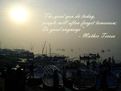 Mother Teresa Inspirational Quote on Happy New Year