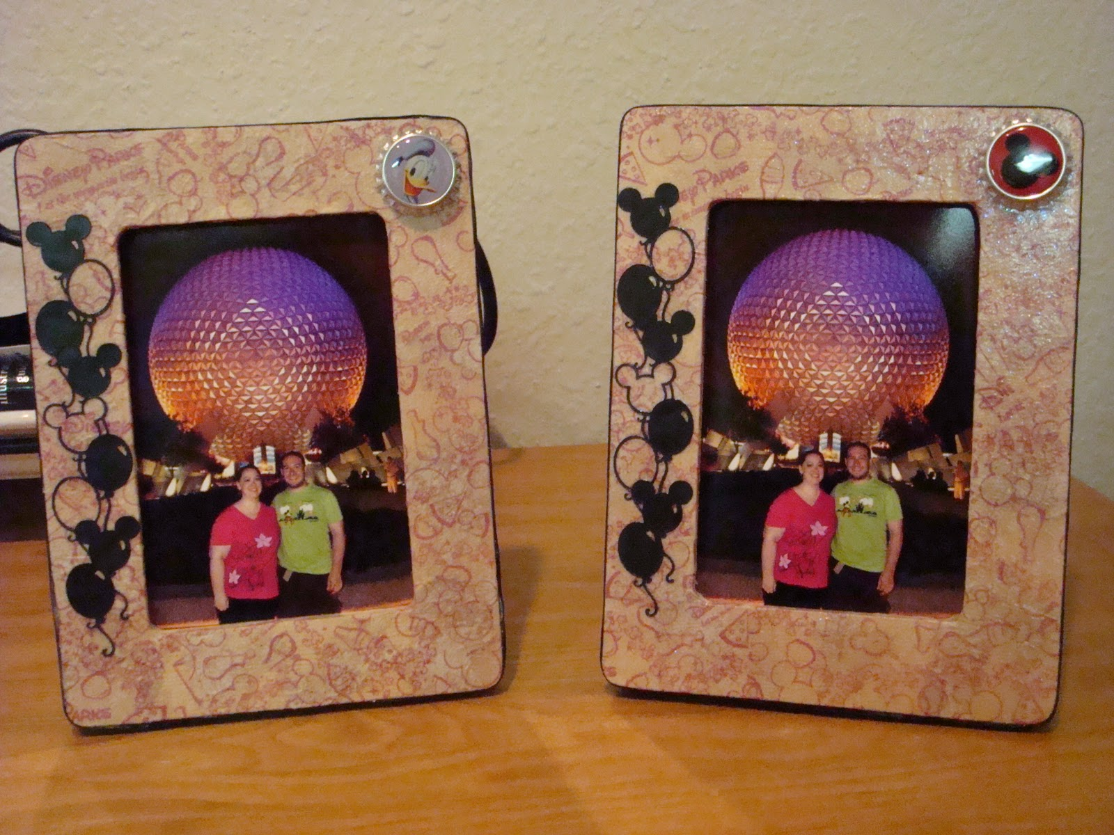 his and hers photo frames ones in ct while the other is in tx - Disney Picture Frames