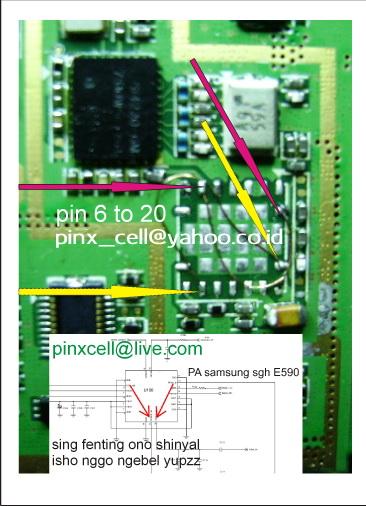 trik jamper IC PA samsung sgh d900i