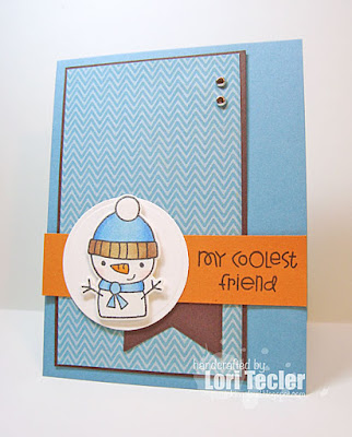 My Coolest Friend card-designed by Lori Tecler/Inking Aloud-stamps from Paper Smooches