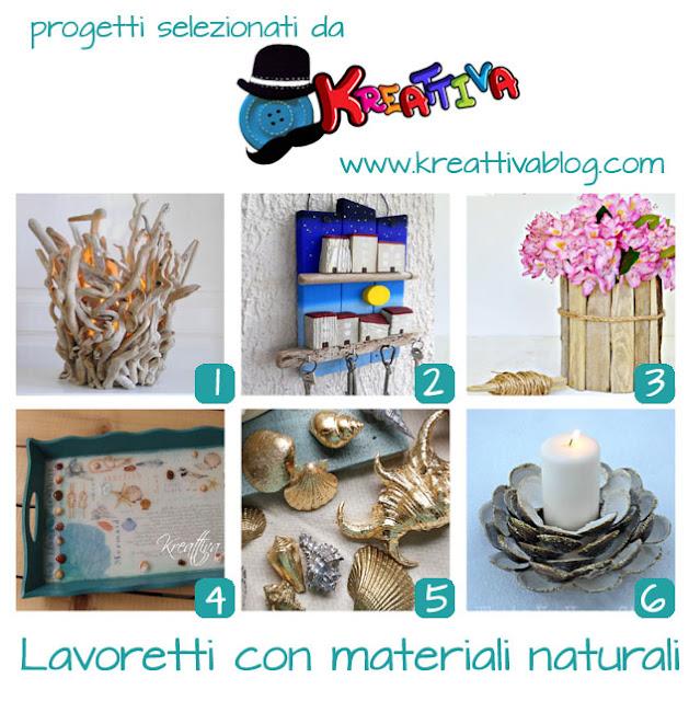 18 lavoretti realizzati con materiali naturali