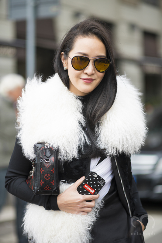 Editor of Vogue Thailand Jongkol Tangpradit attends to Gucci 2015-2016 Fall Winter show during Milan Fashion Week MFW