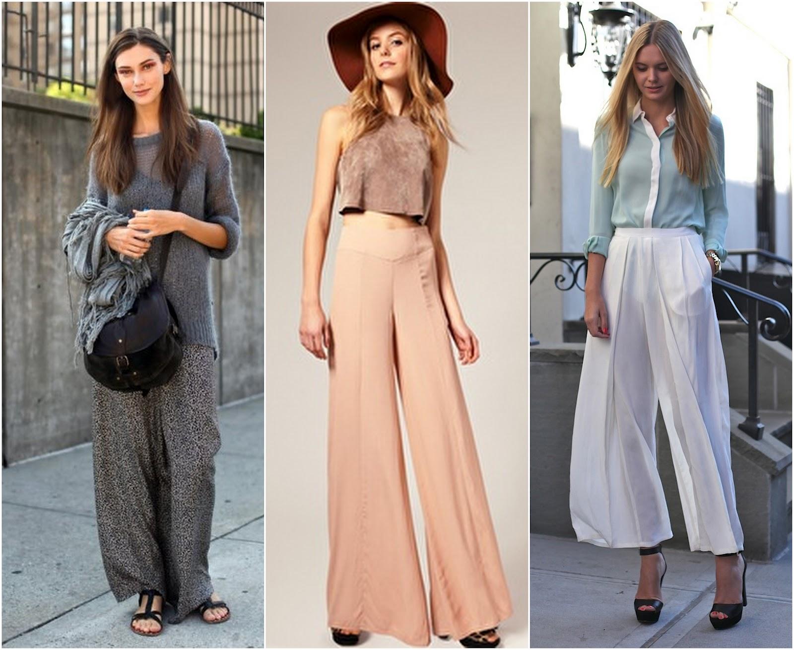 Brilliant Fashion Womens Palazzo Pants High Waist Wide Leg Culottes Long Trousers Casual H | EBay