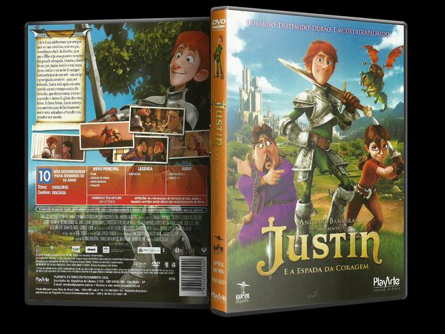 Capa DVD Justin E A Espada Da Coragem