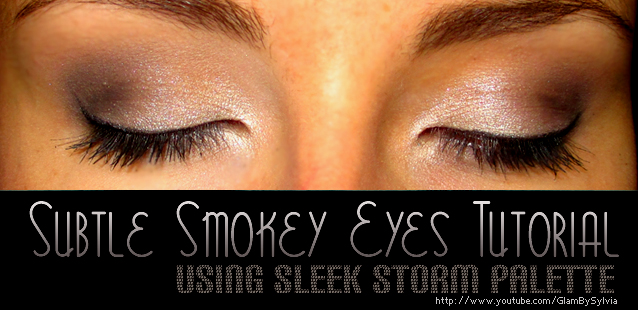 Subtle Smokey Eyes using Sleek Storm Palette