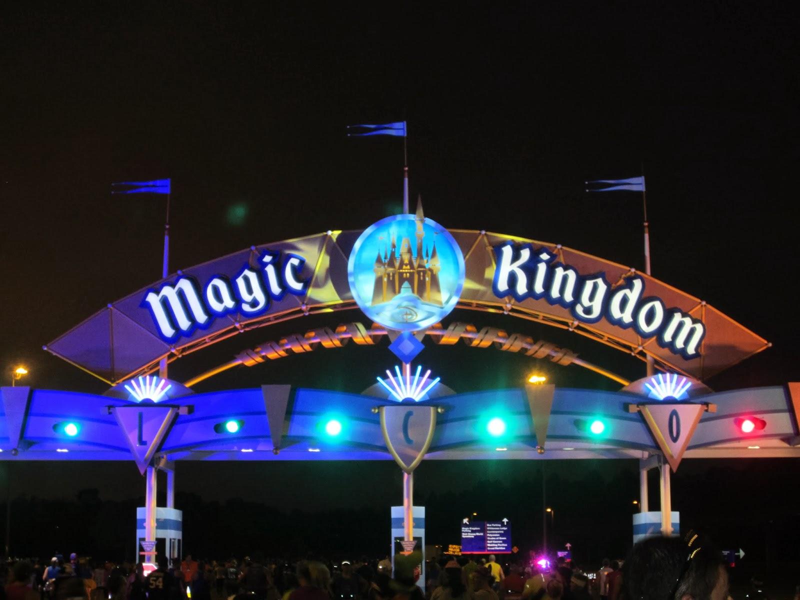 Magic Kingdom gate.