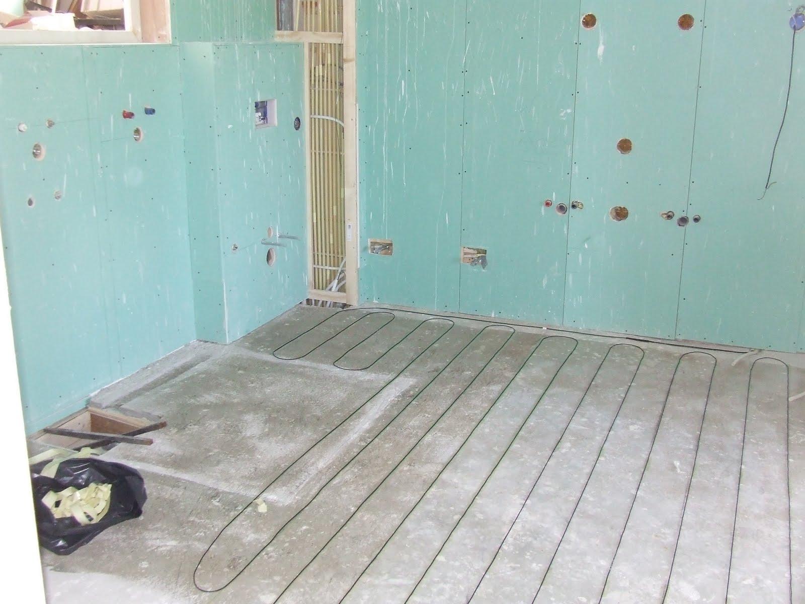 Ziep25: De vloerverwarming in de grote badkamer