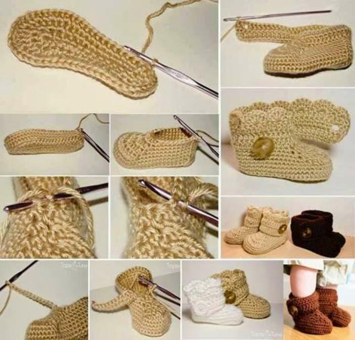 DIY Crochet Baby Booties