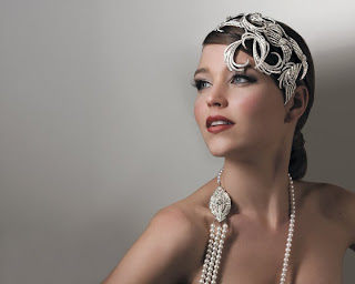 Vintage flapper 1920's styled headpiece from Stephanie Browne