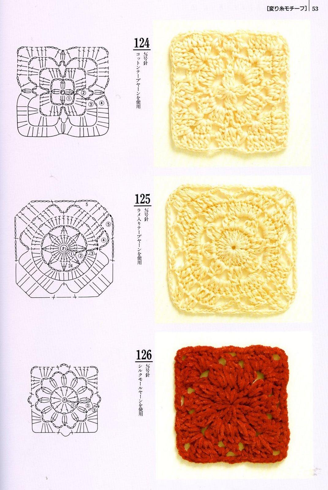 Granny Squares, cuadrados a crochet patrones | Tejedorita