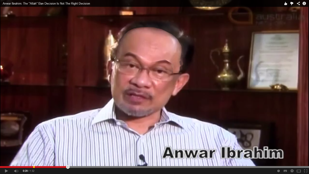 "Anwar Ibrahim : The ""Allah"" Ban Decision Is Not The Right Decision"