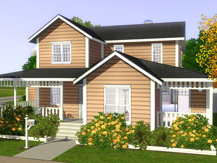 My sims 3 blog family house 01 by noel for Three family house plans