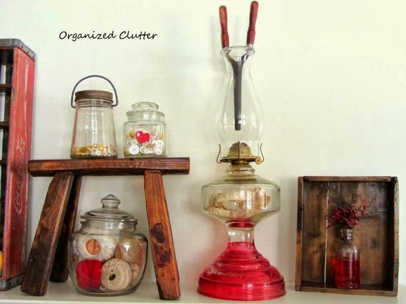 Buttons in Jars www.organizedclutterqueen.blogspot.com