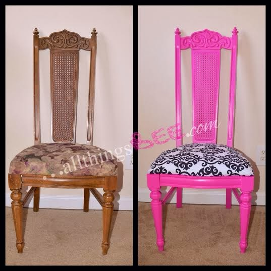 Personalizing Your Beauty Space Diy Vanity Pink Chair Allthingsbee