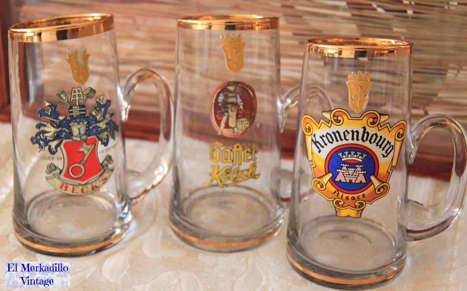 Jarras de cerveza alemanas de cristal ref 0298 vendido for Jarras para cerveza