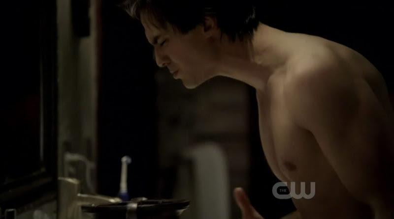 Ian Somerhalder Shirtless on The Vampire Diaries s2e17