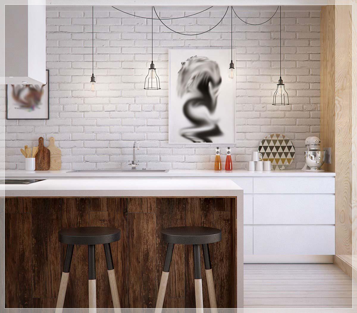 25 hvit og tre kjøkken ideer   interiør inspirasjon